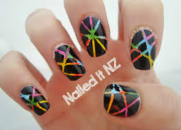 disco striping tape nails trip down nail art lane day 6