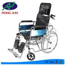 high back reclining wheelchair high backrest commode wheelchair