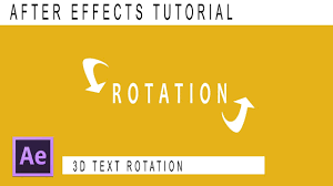 tutorial kinetic typography after effects after effects tutorial 3d text rotation kinetic typography youtube