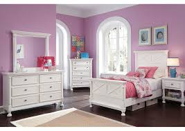 Bedroom Furniture Ta Fl Aco Furniture Kaslyn Panel Bed W Dresser Mirror Chest 2