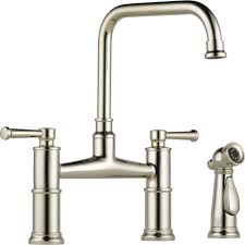 Bridge Kitchen Faucet With Side Spray by Brizo 62525lf Pc Artesso Polished Chrome Two Handle Bridge Kitchen