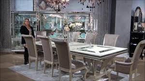 hollywood swank rectangular glam dining room set by michael amini