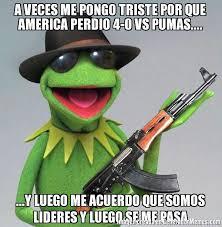 Memes De America Vs Pumas - a veces me pongo triste por que america perdio 4 0 vs pumas y