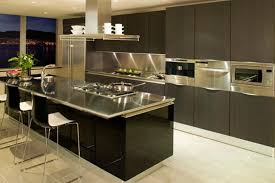 Contemporary Kitchen Designs With Stainless Steel Cabinets Rilane - Stainless steel kitchen table top