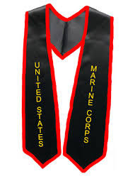 cheap graduation stoles marine corps black graduation stole with trim as low as 10 99