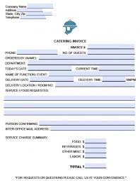 free catering service invoice template excel pdf word doc