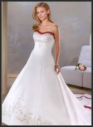 Red And White Wedding Dresses 20 Best Wedding Dresses With Red Trim Images On Pinterest