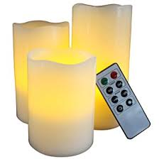 Home Decor Candles Amazon Com Flameless Candles With Timer Remote Control Unscented