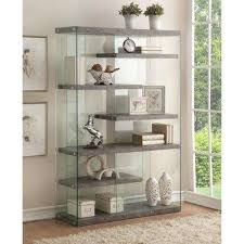 6 Bookcase Acme Furniture Bookcases Home Office Furniture The Home Depot