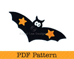 bat applique template halloween applique design diy pdf