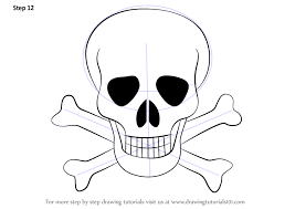 learn how to draw skull with crossbones skulls by