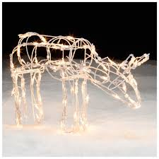 100 lighted deer lawn ornaments lighted santa claus
