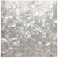 peel and stick kitchen backsplash amazon com art3d 6 pack peel and stick of pearl shell tile