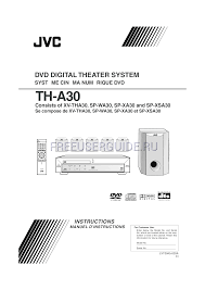 jvc home theater system user u0027s manual for home theater system jvc sp wa30 download free