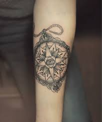 compass tattoo by diana severinenko design of tattoosdesign of