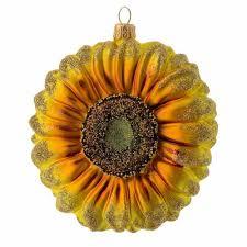 blown glass ornament sunflower sales on