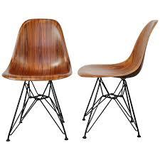 Herman Miller Padded Blue Vintage Chair Vintage Herman Miller Eames Stacking Chairs At 1stdibs