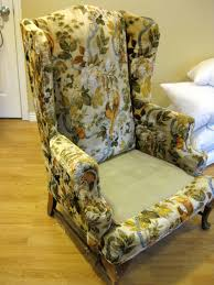 custom slipcovers by shelley white denim wingback chair