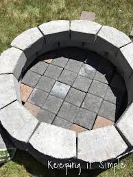 Firepit Blocks How To Build A Diy Pit For Only 60 Keeping It Simple Crafts