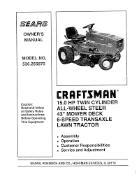 sears 536 25587 lawn mower user manual
