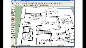 Scaled Floor Plan Import Floorplan Into Sketchup Youtube