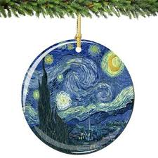 starry porcelain ornaments exclusive the charm and