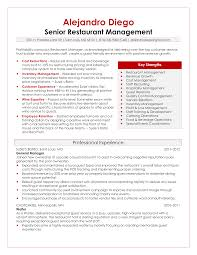 Resume Template For Restaurant Download Restaurant Manager Resume Sample Haadyaooverbayresort Com