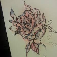 messy rose tattoo sketch best tattoo designs