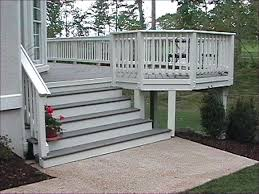 pvc porch railing vinyl deck railings installing front porch