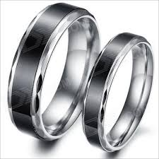 silver steel rings images Simple retro fashionable personality stainless steel couple rings jpg