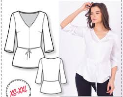 blouse sewing patterns peplum top pattern blouse patterns sewing tutorials fashion