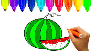 how to draw fruits fruits coloring pages learn colors for kids