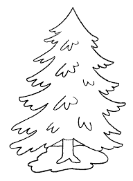 kids 7 pine trees coloring pages kerst pine