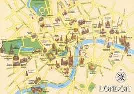 Map Of Central Europe by Steeet Map Of Central London Showing The Location Of Major