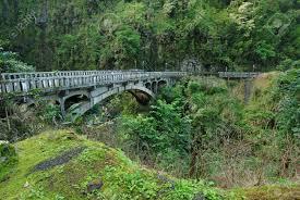 bridge on road to hana maui hawaii stock photo picture and