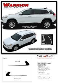 maroon jeep cherokee 2016 warrior jeep cherokee upper body line vinyl graphics decal