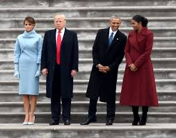 obama s day card inauguration photo of obamas and trumps next to each other