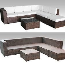 Garten Lounge Gunstig Amazon De Xinro 19tlg Xxxl Polyrattan Gartenmöbel Lounge Sofa
