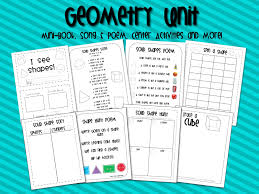 First Grade Geometry Worksheets Mrs Ricca U0027s Kindergarten Solid Shapes Geometry Unit U0026 Freebie