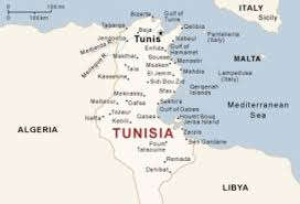 map of tunisia with cities tunisia by destiny gravely