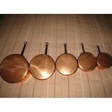 batterie de cuisine en cuivre a vendre série de 5 casseroles cuivre marque tournus achat et vente
