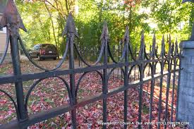 how to faux wrought iron fence stolloween