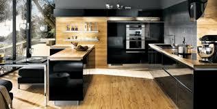 cuisine bois et stunning cuisine bois noir inox ideas design trends 2017