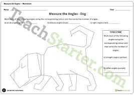 measure the angles worksheet dog teaching resource u2013 teach starter