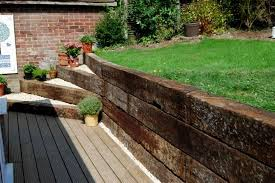 Railway Sleepers Garden Ideas Cool Garden Ideas Railway Sleepers Garden Gallery Image