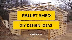 45 best pallet shed diy design ideas 2017 youtube