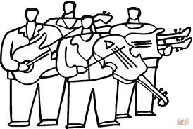 orchestra with violas coloring page free printable coloring pages
