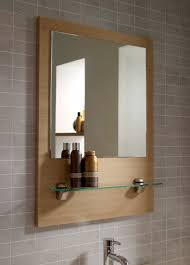 wood framed bathroom mirrors oak home