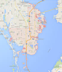 Clearwater Beach Florida Map by St Petersburg Florida Map