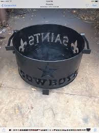new orleans saints fire pit with fleur de lis heavy steel 3 8